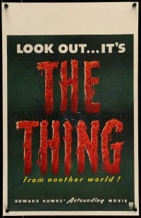 5d078 THING WC '51 Howard Hawks astounding classic horror from another world, rare!