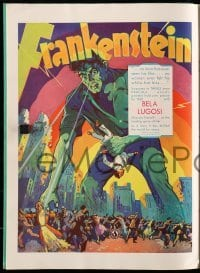 5d040 UNIVERSAL 1931-32 campaign book '31 incredible full-color images, Frankenstein w/Lugosi, rare