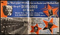 5d061 DEVIL DOGS OF THE AIR promo brochure '35 James Jimmie Cagney, cool Quaker Oats tie-in, rare!