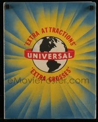 5d057 UNIVERSAL'S 3 BOX OFFICE SERIALS promo brochure '43 cool art from WWII action serials!