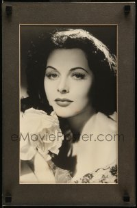 5k005 HEDY LAMARR 11.25x17.25 matted display '78 great portrait of the beautiful MGM star, rare!