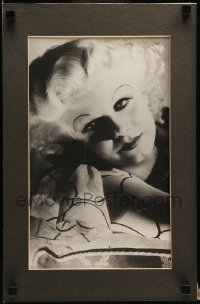 5k004 JEAN HARLOW 11.25x17.25 matted display '78 great portrait of the beautiful MGM star, rare!