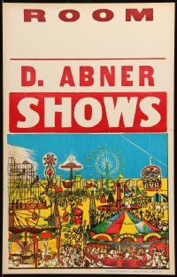 5k016 D. ABNER SHOWS 14x22 circus poster '70s great art of carnival rides & other attractions!