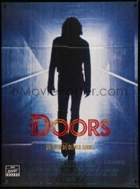 5k688 DOORS French 1p '90 silhouette of Val Kilmer as Jim Morrison, directed by Oliver Stone!