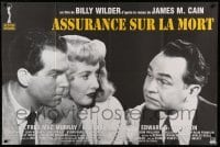 5k516 DOUBLE INDEMNITY French 32x47 R90s Billy Wilder, Barbara Stanwyck, Fred MacMurray, Robinson