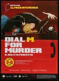 5k350 DIAL M FOR MURDER Italian 1p R14 Hitchcock, art of victim Grace Kelly reaching for phone!