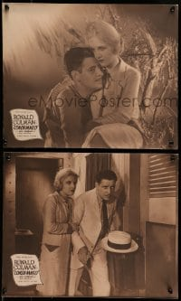 5k002 CONDEMNED 4 jumbo LCs '29 romantic close up of Ronald Colman holding pretty Ann Harding!