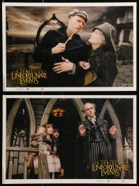 5k026 LEMONY SNICKET'S A SERIES OF UNFORTUNATE EVENTS 9 11x16 LCs '04 images of wacky Jim Carrey!
