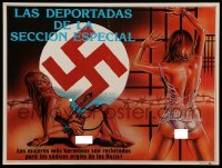 5k188 DEPORTED WOMEN OF THE SS SPECIAL SECTION Mexican LC '76 art of nude girl chained to swastika!