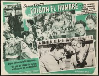 5k190 EDISON THE MAN Mexican LC R50s close up of worried inventor Spencer Tracy & Rita Johnson!