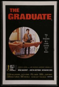 5k047 GRADUATE 11x17 English commercial poster '68 classic image of Dustin Hoffman & sexy leg!