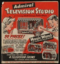 5k001 PETER PAN 16x17 Admiral Television Studio play set '53 all you need for 4 television shows!
