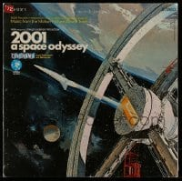 5k029 2001: A SPACE ODYSSEY soundtrack record '68 Stanley Kubrick Cinerama classic, McCall art!