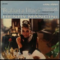 5k031 BREAKFAST AT TIFFANY'S soundtrack record '61 Audrey Hepburn, Henry Mancini's music!
