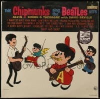 5k032 CHIPMUNKS SING THE BEATLES HITS record '64 all your favorite songs sung with wacky voices!