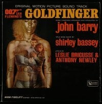 5k036 GOLDFINGER soundtrack Canadian record '64 Sean Connery as James Bond, original movie music!