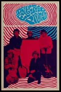 5k039 ELECTRIC PRUNES 13x20 music poster '67 psychedelic art image of the band by Robert Wendell!