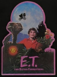 5k027 E.T. THE EXTRA TERRESTRIAL die-cut standee '82 Spielberg classic, best bike over moon image!