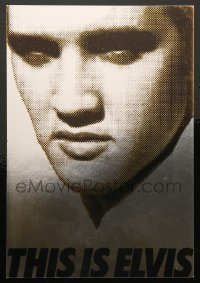 5k024 THIS IS ELVIS foil trade ad '81 Elvis Presley rock 'n' roll biography, portrait of The King!