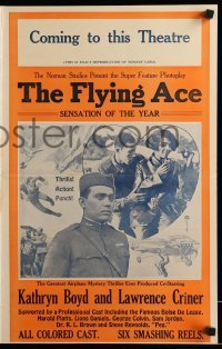 5k064 FLYING ACE pressbook '26 exact full-size image of the 14x22 window card!
