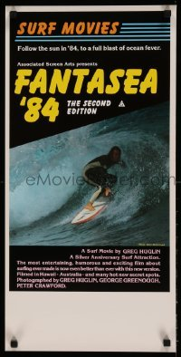 5p041 FANTASEA '84 Aust daybill '84 great close up surfing photo, a blast of ocean fever!