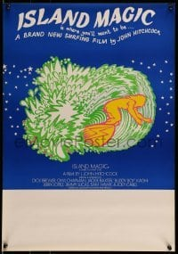 5p050 ISLAND MAGIC Aust special poster '72 L. John Hitchcock surfing documentary, different art!
