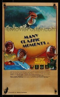 5p051 MANY CLASSIC MOMENTS Aust special poster '78 surfing, wacky Surf Wars cartoon as well!
