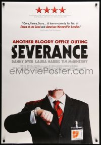 5p067 SEVERANCE Canadian 1sh '07 Christopher Smith directed horror, The company is making cutbacks