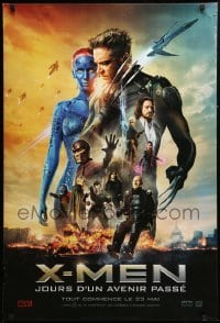 5p069 X-MEN: DAYS OF FUTURE PAST style A teaser DS Canadian 1sh '14 cool image of cast!