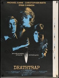 5p072 DEATHTRAP printer's test English 1sh '82 cool different art of Reeve, Caine & Dyan Cannon!