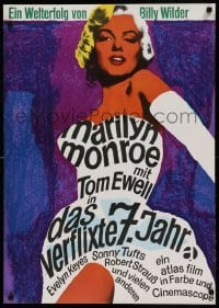 5p017 SEVEN YEAR ITCH German R66 Billy Wilder, great different sexy art of Marilyn Monroe!