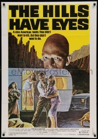5p031 HILLS HAVE EYES Lebanese '79 Wes Craven, classic creepy image of sub-human Michael Berryman!