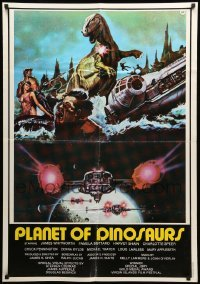 5p032 PLANET OF DINOSAURS Lebanese '78 completely different sci-fi artwork by Tino Aller!