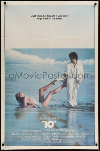 5t007 '10' int'l 1sh '79 Blake Edwards, great image of Dudley Moore & sexy Bo Derek on the beach!