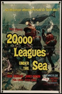 5t012 20,000 LEAGUES UNDER THE SEA style A 1sh R63 Jules Verne classic, art of deep sea divers!