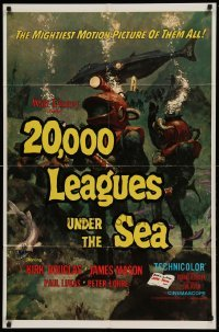 5t011 20,000 LEAGUES UNDER THE SEA 1sh R71 Jules Verne classic, wonderful art of deep sea divers!