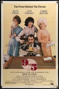 5t006 9 TO 5 1sh '80 Dolly Parton, Jane Fonda & Lily Tomlin w/tied up Dabney Coleman!