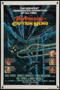 5t035 AMAZING CAPTAIN NEMO int'l 1sh '78 sci-fi art of divers in the greatest underwater adventure!