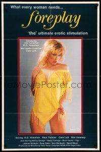 5t324 FOREPLAY 25x38 1sh '82 Ron Jeremy, sexy Chic centerfold K.C. Valentine!
