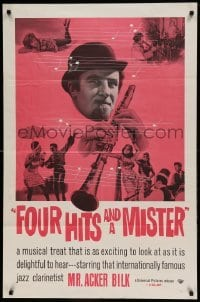 5t327 FOUR HITS & A MISTER 1sh '62 jazz stylings of Acker Bilk & His Band, and Boscoe Holder!