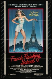 5t330 FRENCH FINISHING SCHOOL 24x38 1sh '81 artwork of sexy naked students, seksschool!