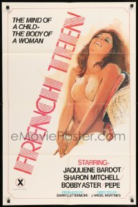 5t331 FRENCH TEEN 25x38 1sh '77 sexy art, she has the mind of a child - the body of a woman!