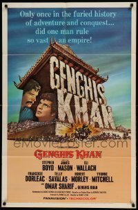 5t339 GENGHIS KHAN 1sh '65 Omar Sharif as the Mongolian Prince of Conquerors, Stephen Boyd!