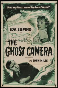 5t345 GHOST CAMERA 1sh R49 cool crime art of young sexy Ida Lupino, Henry Kendall!