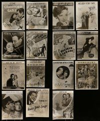 6d325 LOT OF 15 REPRO 8X10 STILLS SHOWING SHEET MUSIC '70s great images from 1936 movies!