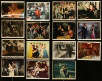 6d324 LOT OF 15 COLOR 8X10 STILLS '30s-60s great scenes from a variety of different movies!