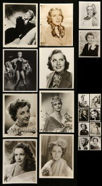 6d319 LOT OF 18 8X10 STILLS OF PRETTY WOMEN '40s great portraits of pretty actresses!