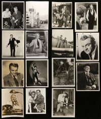 6d322 LOT OF 15 JAMES CAGNEY 8X10 STILLS '50s-60s great images including some candids!