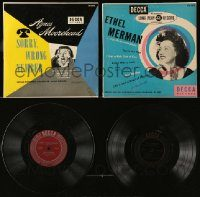 6d195 LOT OF 2 33 1/3 RPM RECORDS '40s-50s Sorry Wrong Number + Ethel Merman famous songs!