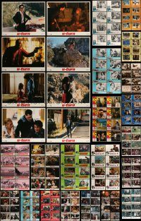 6d134 LOT OF 192 LOBBY CARDS '60s-90s complete sets of 8 cards from 24 different movies!